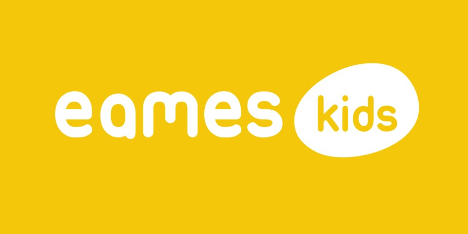 Eames kids logo, a furniture manufacturer and distributor.