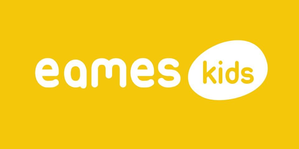 Eames kids logo, a furniture manufacturer and distributor.