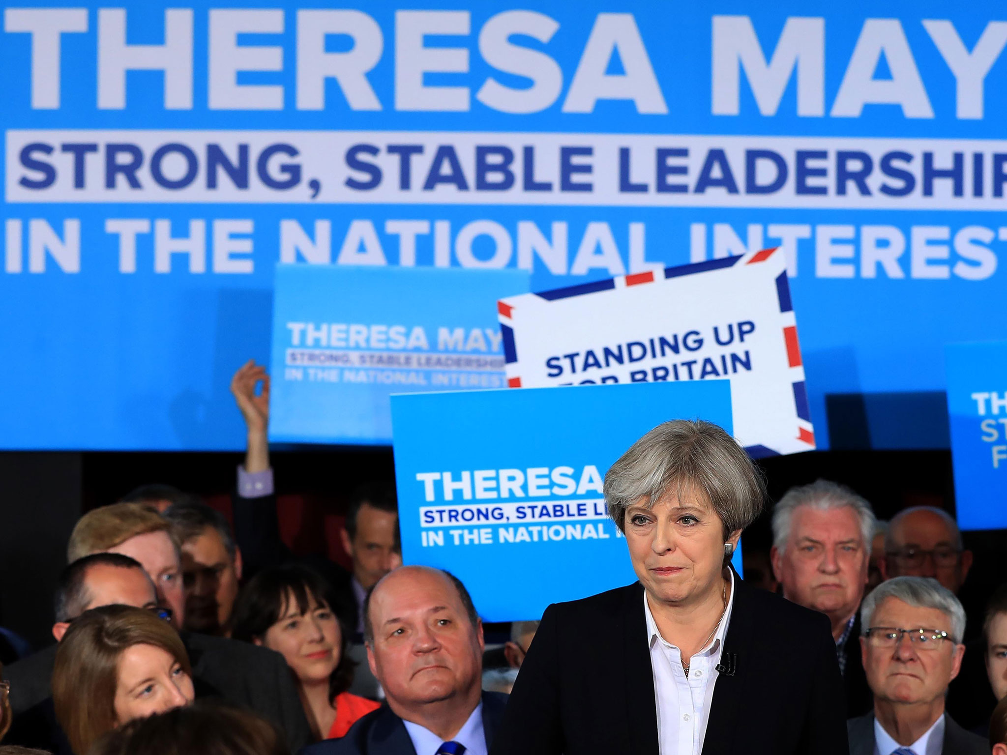 Strong and stable, billboard for Theresa May