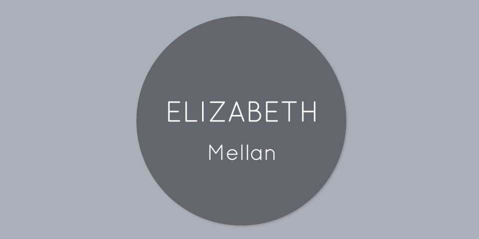 Elizabeth Mellan logo, a Hampshire based artist.