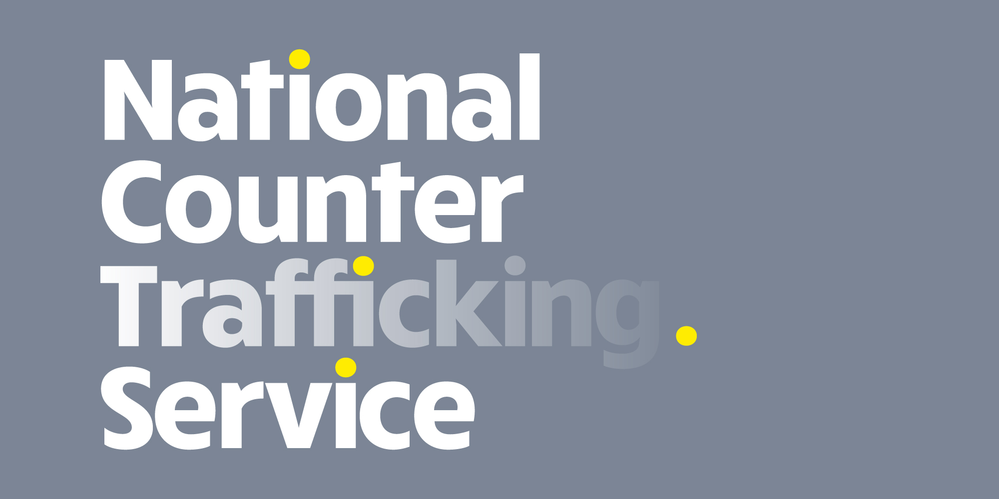 Brand identity for National Counter Trafficking Service, a subbrand of the charity Barnardo's