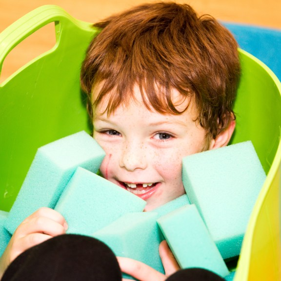Interactive play with children and their parents - Sponge Play for Turned on its Head.