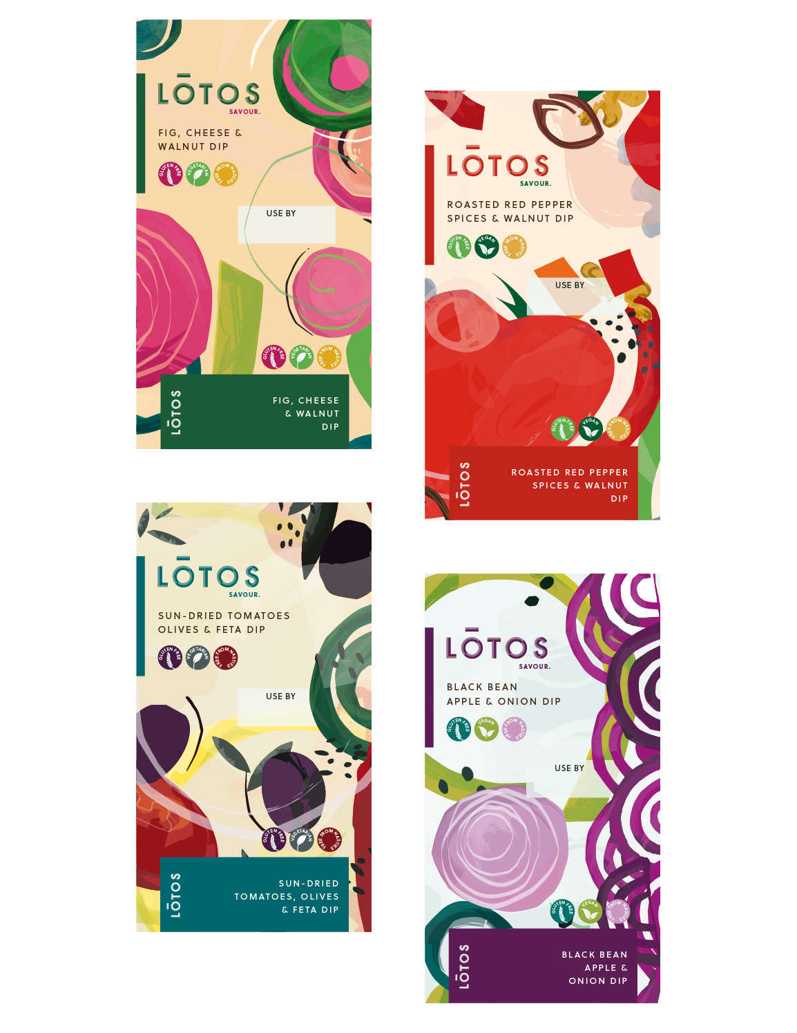 LOTOS dips in four different flavours