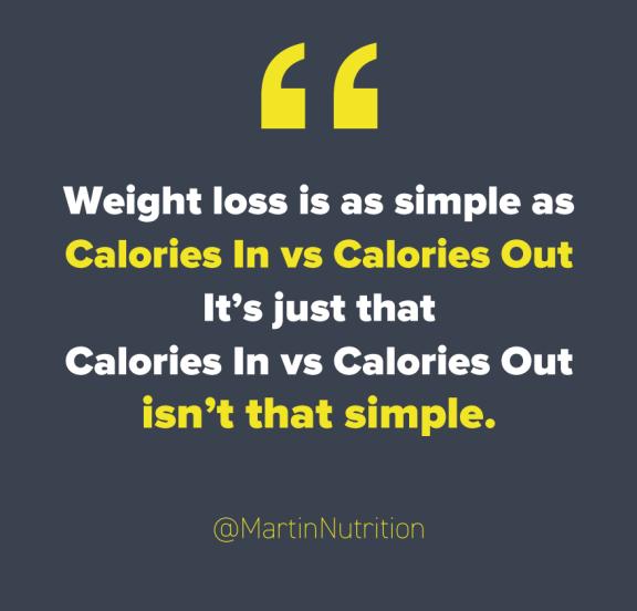 Instagram quote Martin MacDonald around calories