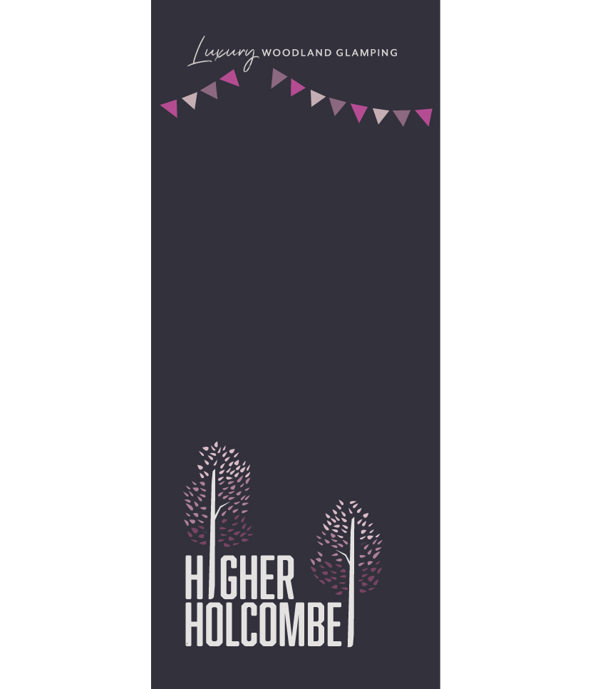 Higher Holcombe brand with bunting