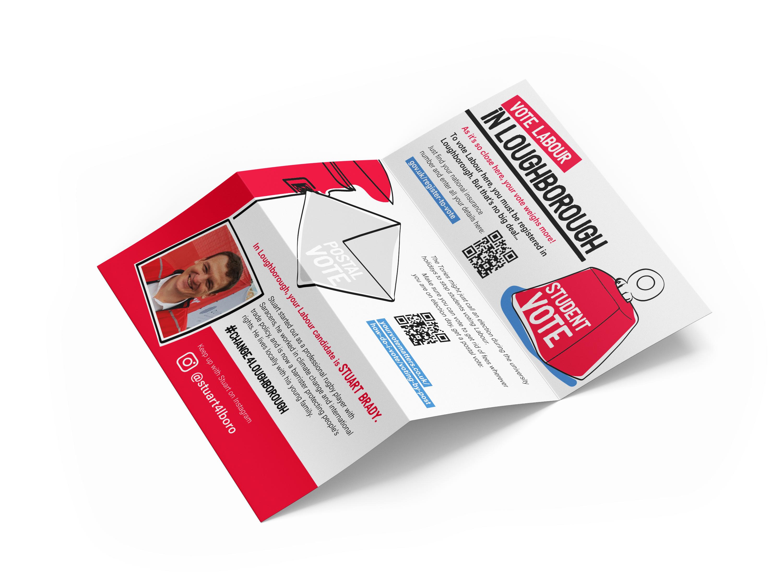 Labour leaflet for Stuart Brady