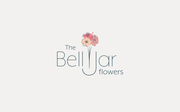 The Bell Jar flowers branding and illustration