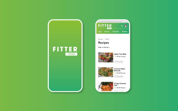 Recipes from Fitter 365, website design and development for nutrition and lifestyle business