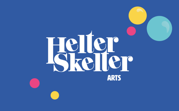 Helter Skelter arts logo for circus brand in Loughborough