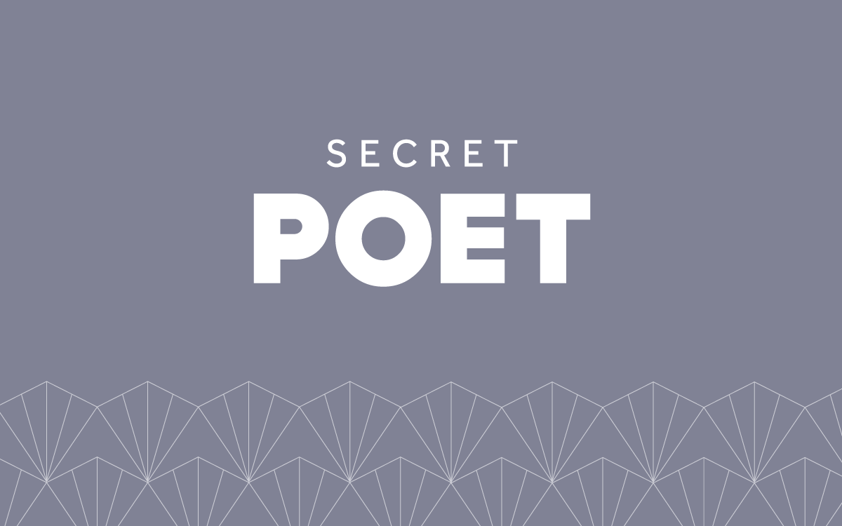 Secret Poet brand with geometric pattern