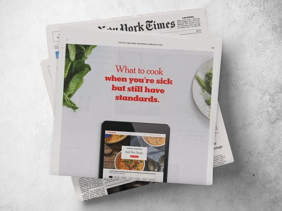 Tone of voice for New York Times Cooking
