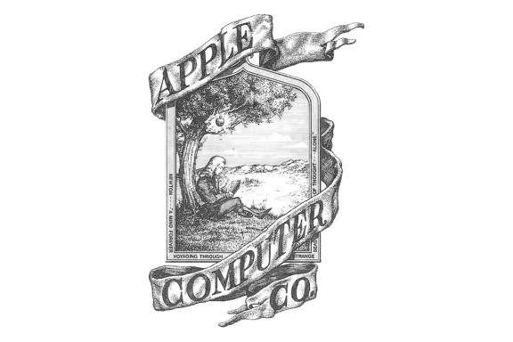 The old apple logo