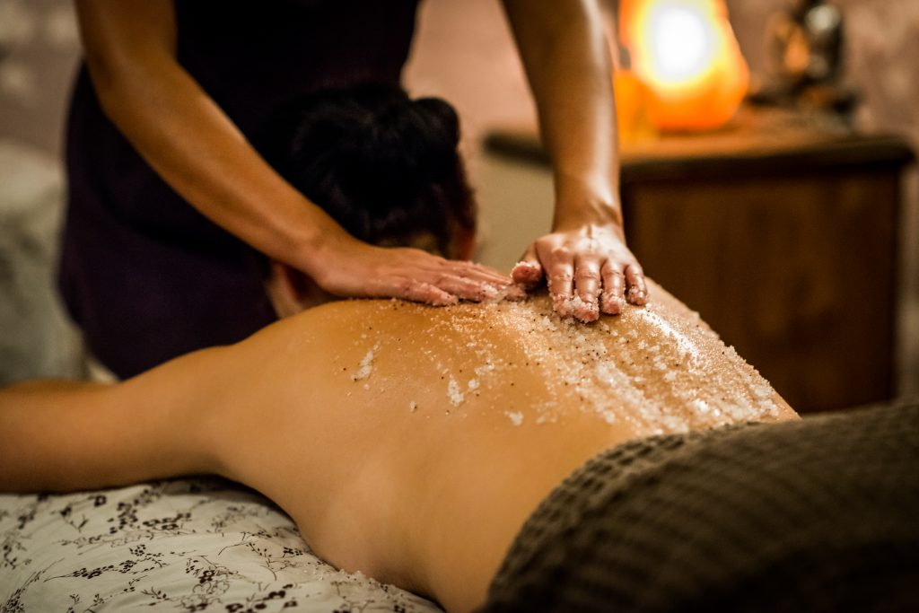 Massage treatment at a spa