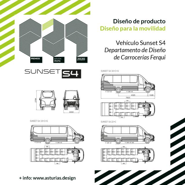 Premio Asturias Diseña 2020 - Diseño de Producto Carrocerías Ferqui Sunset S4