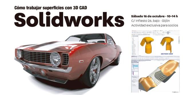 Master Class 3d Solidworks impartida por Monchi Álvarez en ADPRO Asociación de diseñadores de Producto de Asturias