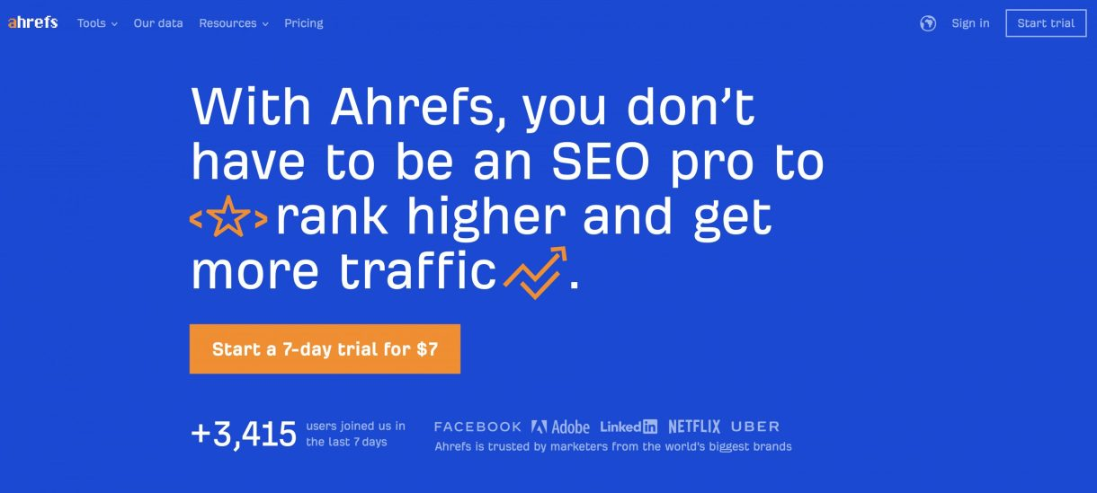 Ahrefs Keyword Targeting