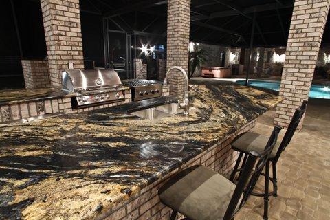 outdoor kitchens orlando kitchen sink depth countertops adp surfaces countertop sedna granite unique by in
