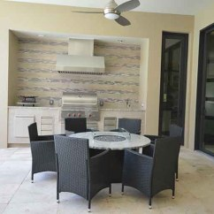 Outdoor Kitchens Orlando Kitchen Cutting Block Table Countertops Adp Surfaces Granite Countertop With Fireplace And Worktop By In Florida