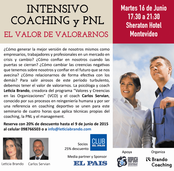 Intensivo Coaching y PNL 16 de junio Sheraton