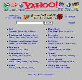Yahoo Screenshot 1995