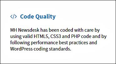 Standardized Code Enabled wordpress theme