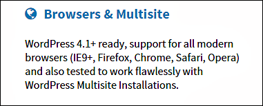 Multi-browser compatible wordpress theme