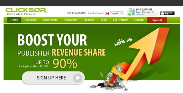 AdSense Alternatives: Clicksor