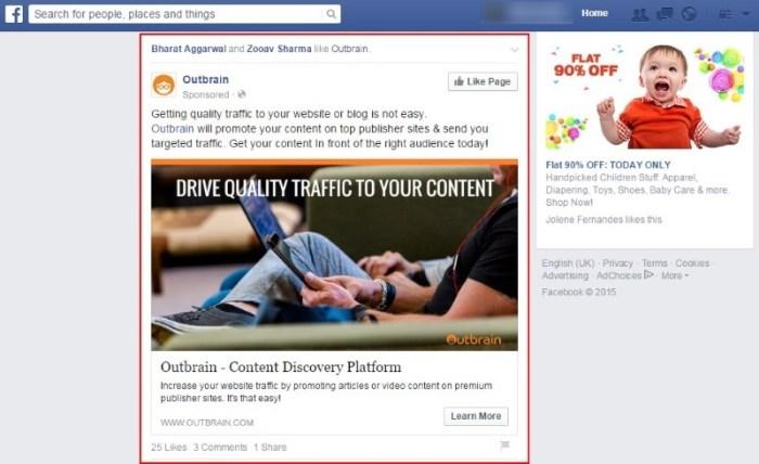 FB native ads
