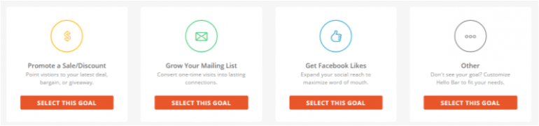 Right now, though, it has expanded, and allows you to focus on a couple more goals other than just email list growth
