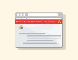 We found some policy violation warnings on your site