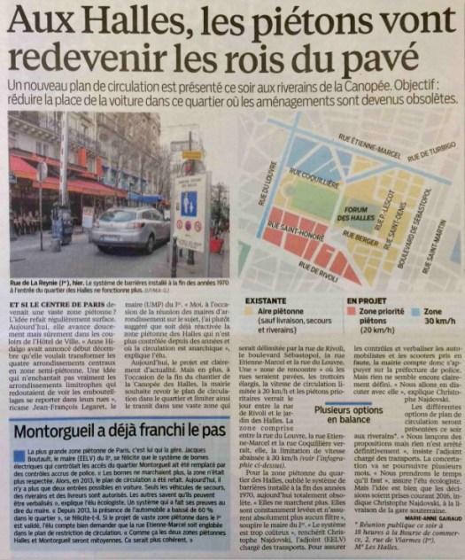20150203_Le_Parisien_Aux_Halles_les_pietons_vont_redevenir_les_rois_du_pave