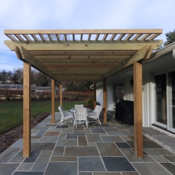 baltimore timonium design build exterior patio pergola renovation