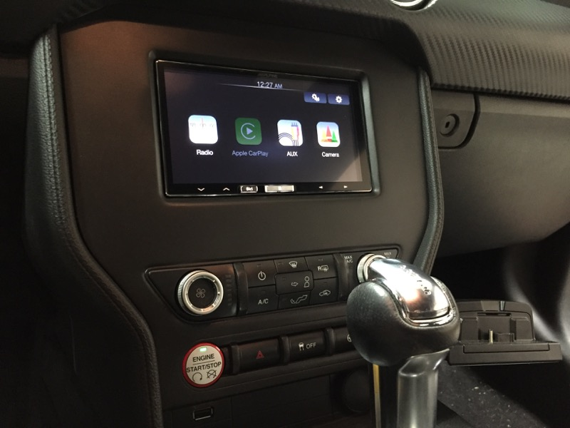 clayton client gets ford mustang apple carplay radio. Black Bedroom Furniture Sets. Home Design Ideas