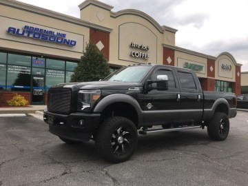Rocky Mount Client Enhances Ford F-250 Audio System
