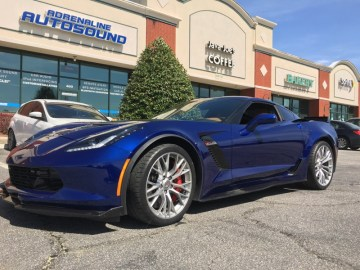 Corvette Z06 Laser System Installation for Raleigh Client