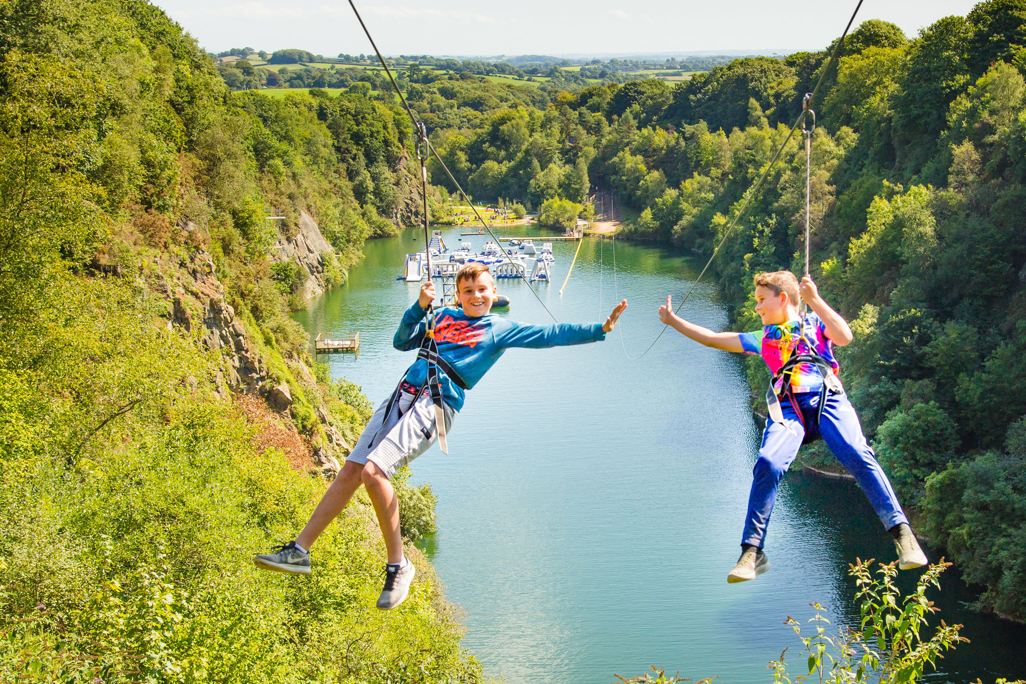 wheelchair zip wire leather bean bag chair things to do in cornwall 490m adrenalin quarry go coasteering