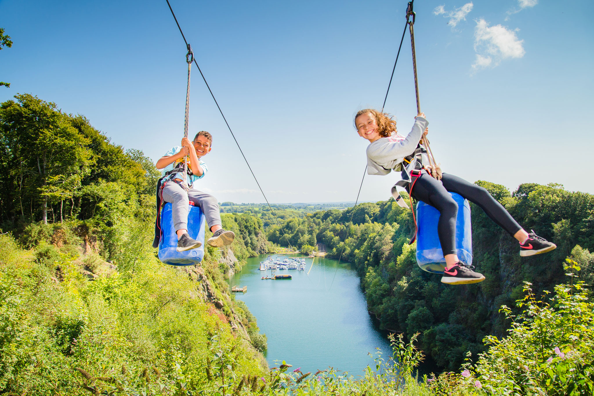 wheelchair zip wire office chair mat bamboo things to do in cornwall 490m adrenalin quarry book coasteering