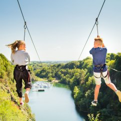 Wheelchair Zip Wire Jacobsen Egg Chair Leather Things To Do In Cornwall 490m Adrenalin Quarry Book Coasteering