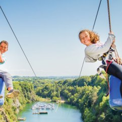 Wheelchair Zip Wire Gaming Chairs Amazon Things To Do In Cornwall 490m Adrenalin Quarry The At