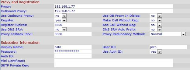 Proxy information