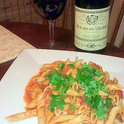 Pasta Marinara with Portabella Mushrooms & Parmigiano Reggiano