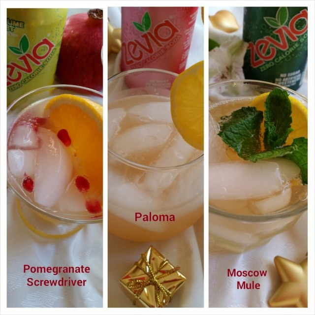Low calorie holiday cocktails with Zevia Zero Calorie Soda