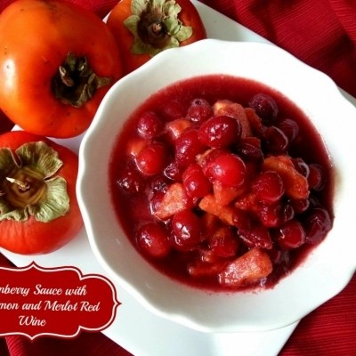 Cranberry Sauce with Persimmon