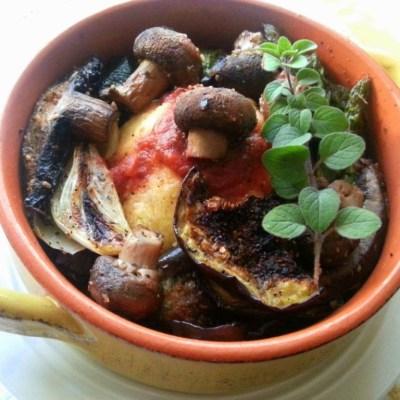 Roasted Mushroom Veggie Bowl