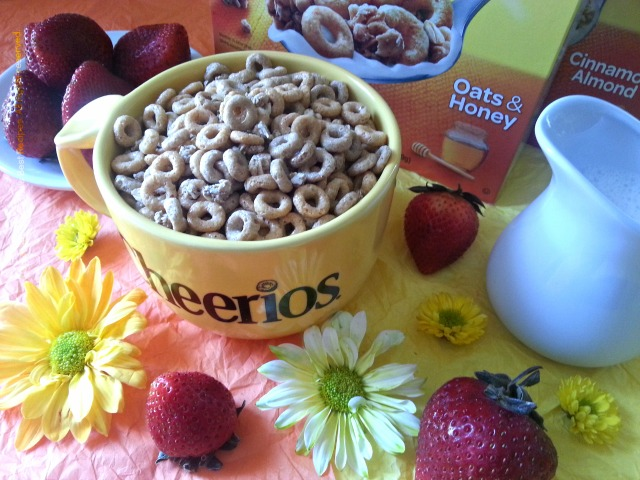 Cheerios Protein comes in two different flavors, oats and honey and cinnamon and almond