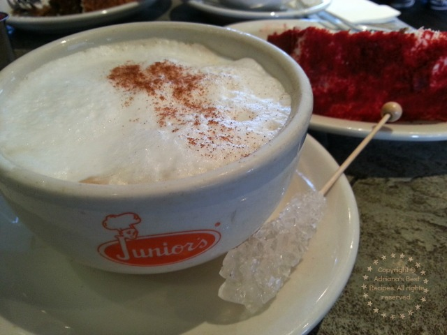 Cappuccino Coffee at Juniors New York