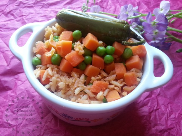 Mexican rice recipe using soybean oil #SoyParaSoy