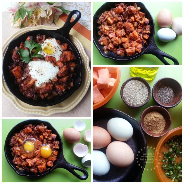 Spicy Sweetpotatoes Casserole with Fresh Farm Eggs #CABatata