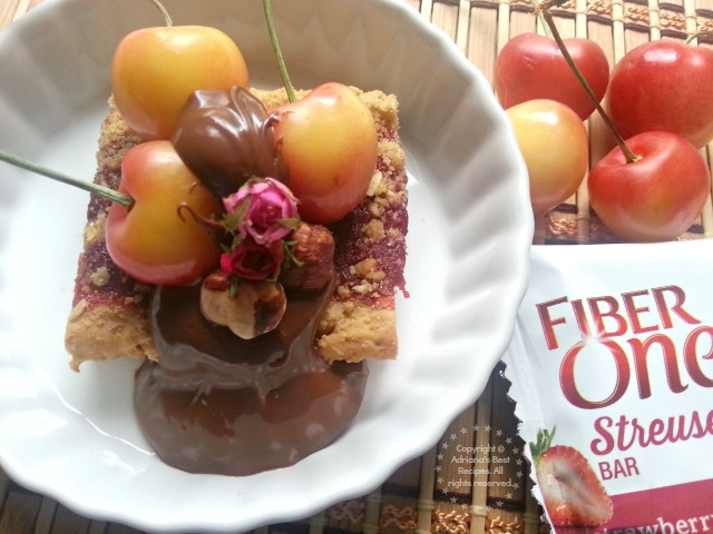 Fiber One Dessert Hack with Fresh Cherries  #FiberOne #ad #PlatefullCoOp