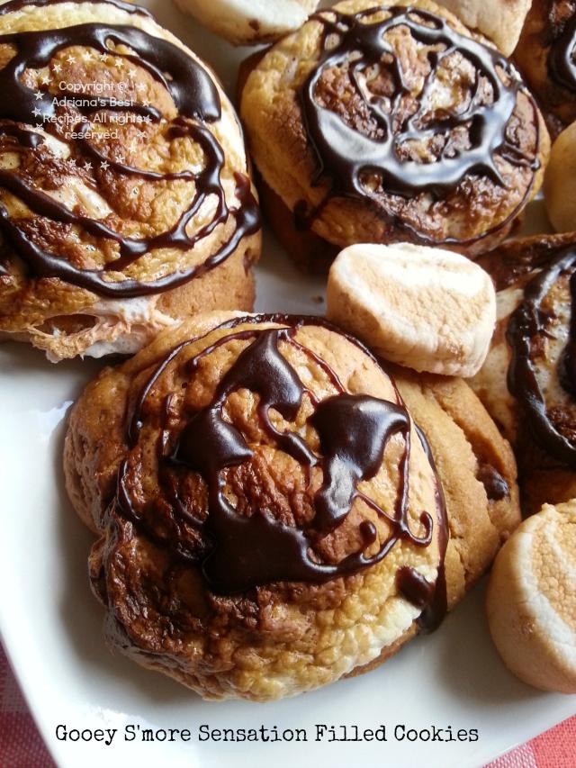 Gooey Smore Sensation Filled Cookies #PillsburyMelts #ad #PlatefullCoOp